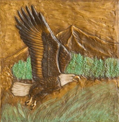 Bronze Eagle Panels
