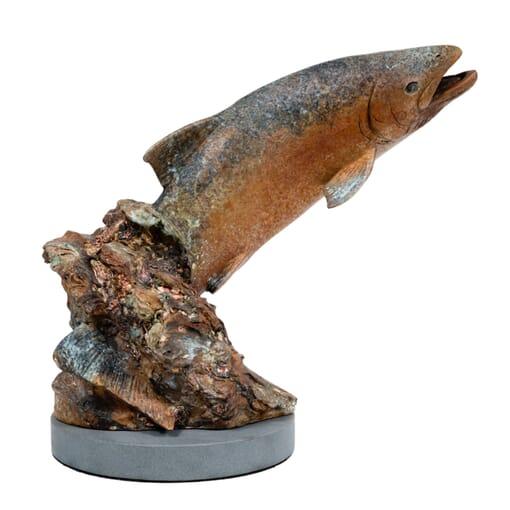 Bronze Fish Sculpture - Splash Dance-1