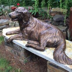 Bronze Golden Retriever Sculpture-1