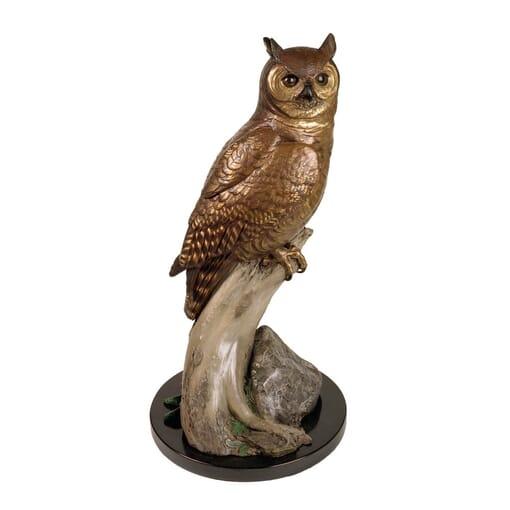 Bronze Great Horned Owl Sculpture