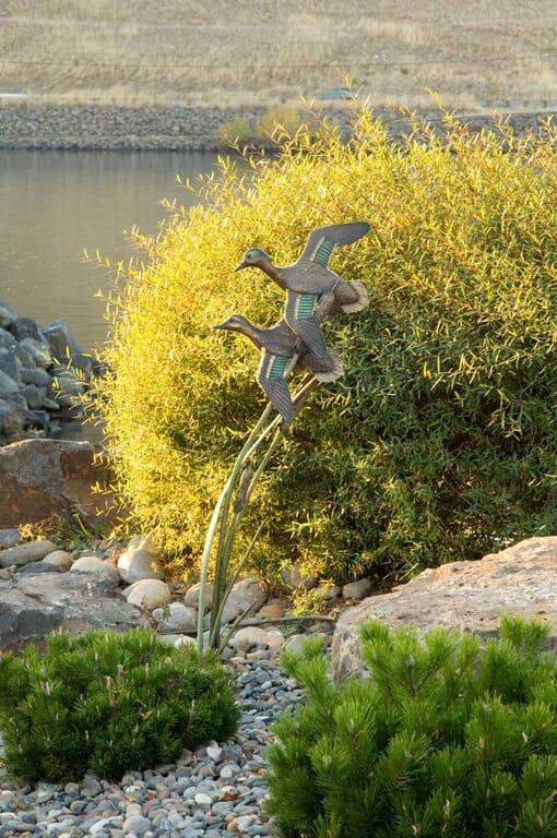Bronze Green-winged Teals Sculpture - Soul Mates-1