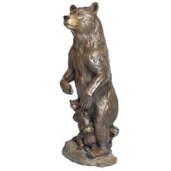 Bronze Grizzly Bear & Cubs Sculpture