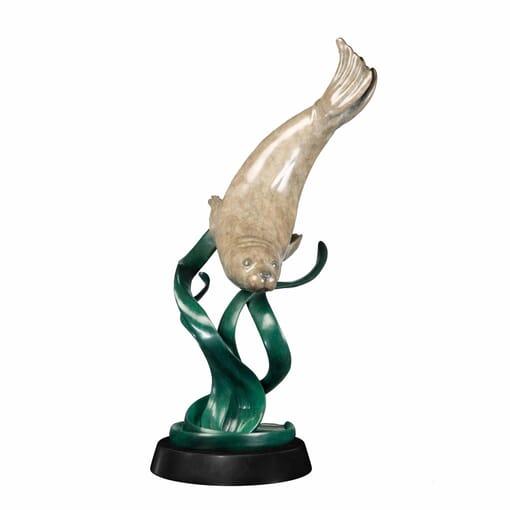 Bronze Harbor Seal Sculpture