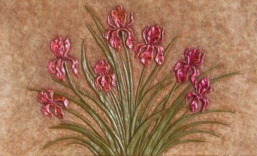 Bronze Iris Panel
