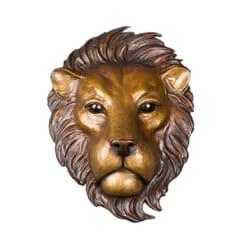 Bronze Lion Wall Mount Sculpture