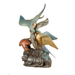 Bronze Macaws Sculpture