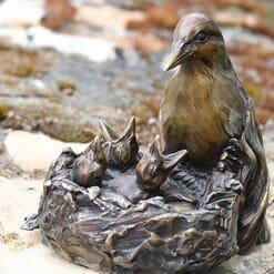 Bronze Meadowlarks Sculpture-2