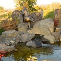 Bronze Mountain Lion Sculpture-3