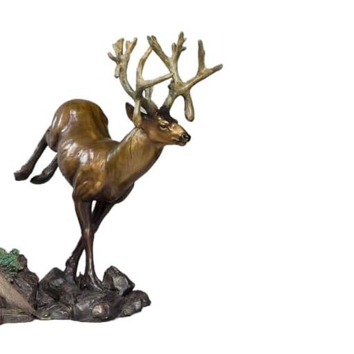 Bronze Mule Deer Sculpture-1