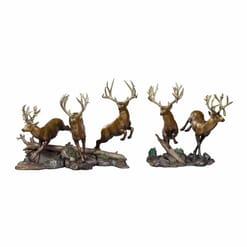 Bronze Mule Deer Sculpture - Sagebrush Rendezvous-2