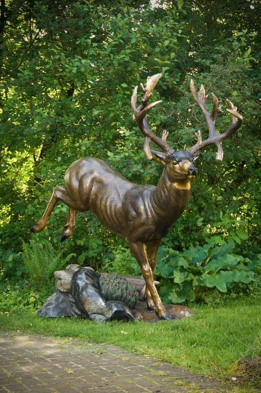 Bronze Mule Deer Sculpture