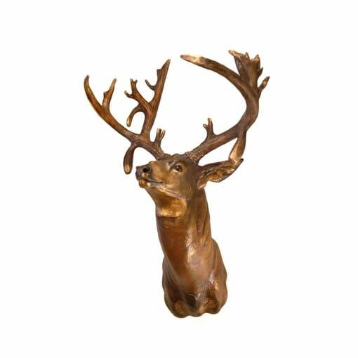 Bronze Mule Deer Shoulder Mount Sculpture