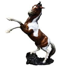 Bronze Mustang Horse Sculpture