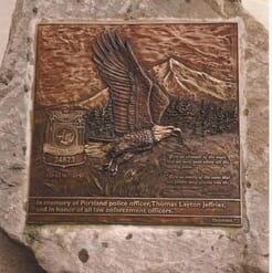 Bronze Officer Jeffries Memorial