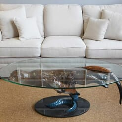 Bronze Otters Glass Coffee Table-4