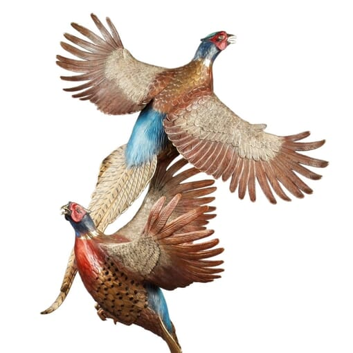 Bronze Pheasants Sculpture-1