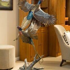 Bronze Pheasants Sculpture-2