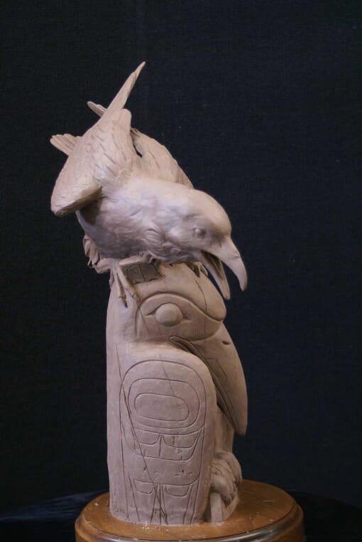 Bronze Raven Sculpture-1