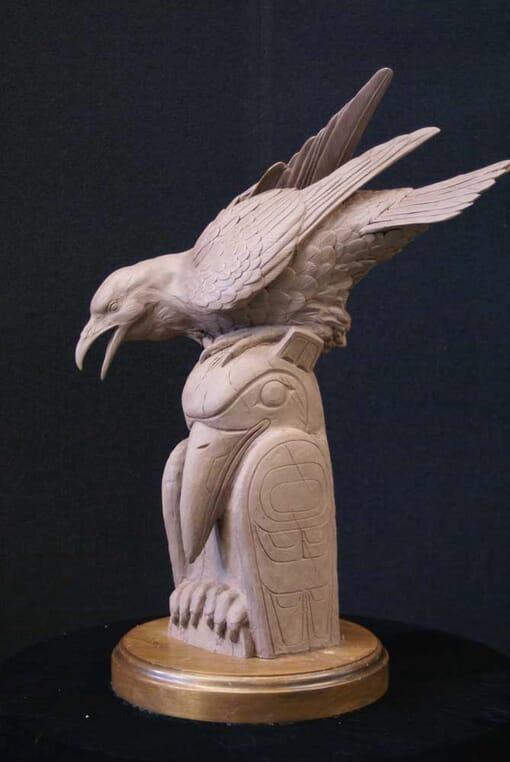 Bronze Raven Sculpture-2