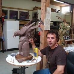 Bronze Raven Sculpture-4