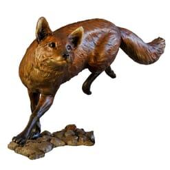 Bronze Red Fox Sculpture