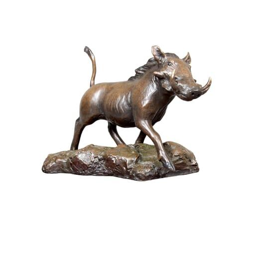 Bronze Warthog Sculpture