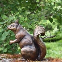 Bronze Western Native Squirrel Sculpture-2