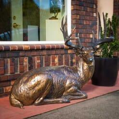 Bronze White-tailed Deer Sculpture-1