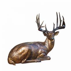Bronze White-tailed Deer Sculpture