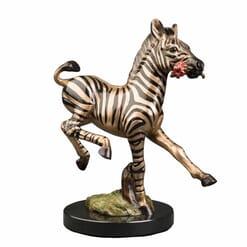 Bronze Zebra Sculpture
