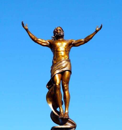 Christ Bronze Sculpture - Ascension-1