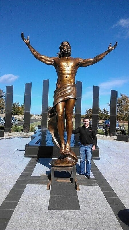 Christ Bronze Sculpture - Ascension-4