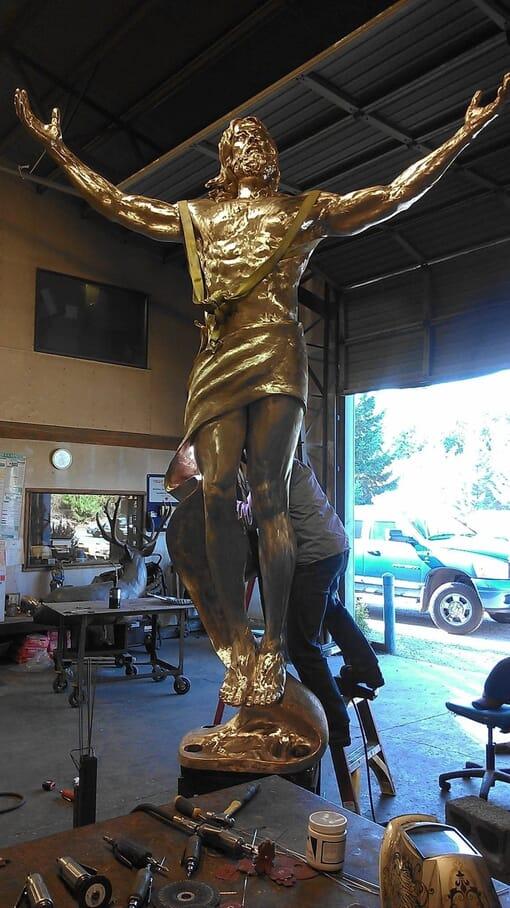 Christ Bronze Sculpture - Ascension-8
