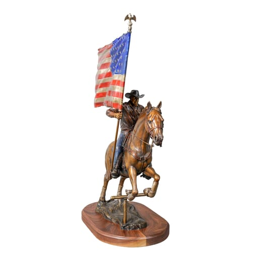 Cowboy with Horse Bronze Sculpture-1