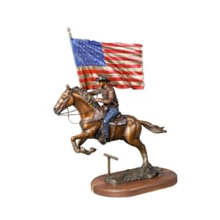 Cowboy with Horse Bronze Sculpture