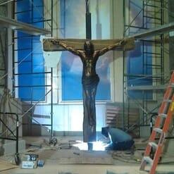 Crucifixion Bronze Sculpture-3