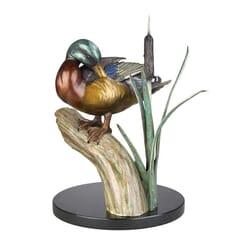 Duck Bronze Sculpture - All Spruced Up