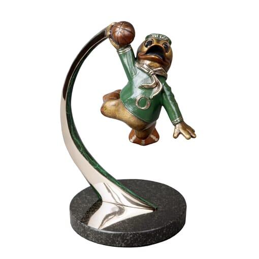 Duck Mascot Bronze Sculpture - Slam Duck-1