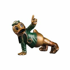 Duck Mascot Bronze Sculpture - Touchdown Oregon-1