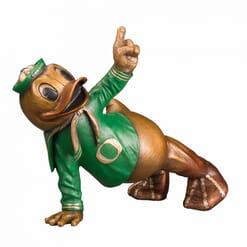 Duck Mascot Bronze Sculpture - Touchdown Oregon