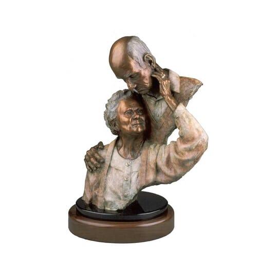 Elderly Couple Bronze Sculpture-1
