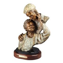 Elderly Couple Bronze Sculpture