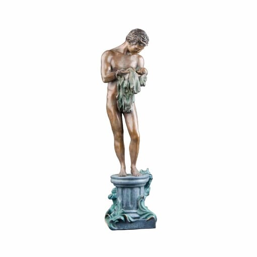 Father with Baby Bronze Sculpture-2