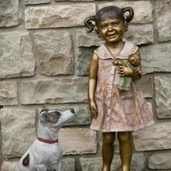 Girl Bronze Sculpture