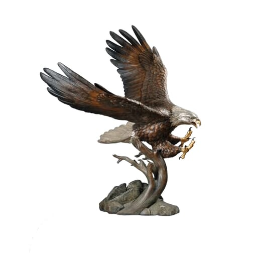 National Geographic - Bronze Bald Eagle Sculpture