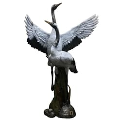 National Geographic - Bronze Red-Crowned Cranes Sculpture