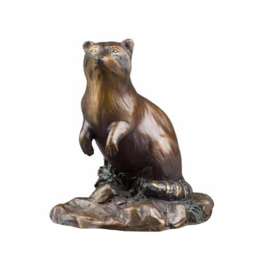 Raccoon Bronze Sculpture - Bandit