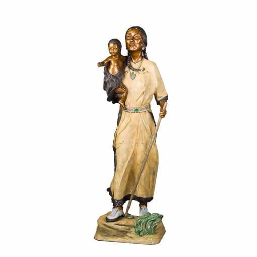 Sacagawea Bronze Sculpture-1