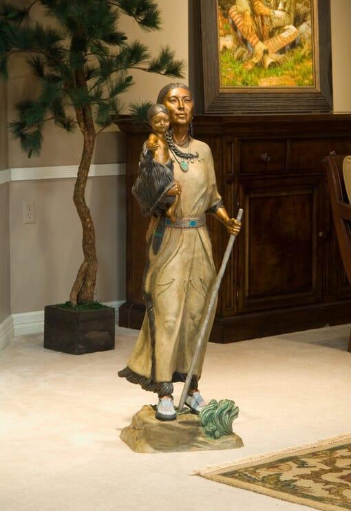 Sacagawea Bronze Sculpture