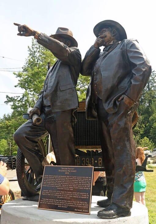 Samuel Lancaster and Sam Hill Bronze Monument-1